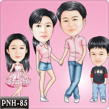 全家福人像Q版漫畫PNH-85